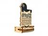 Trofeo realizzato in legno e stampa