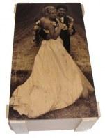 Bomboniera con fotografia stampa su legno